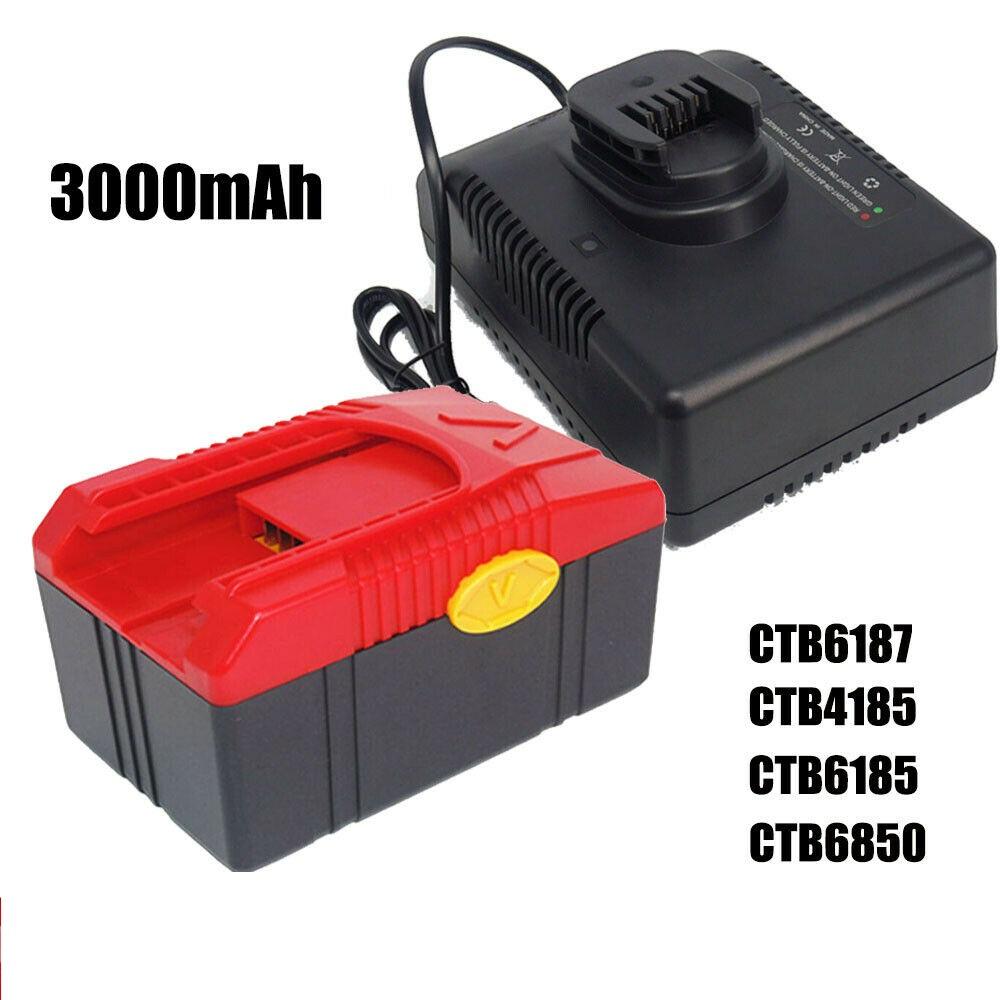 Bateria + Charger CTC620 18V 3.0Ah Snap on Battery CTB6187 CTB4185 CTB4187 CTB6185 CT6850