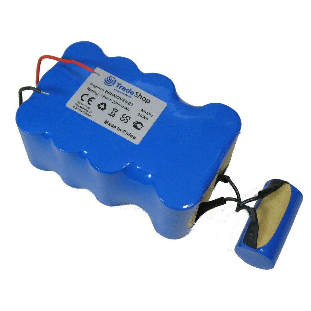 Bateria para 18V 2000mAh Ni-MH Bosch BBHMOVE4 BBHMOVE6 03